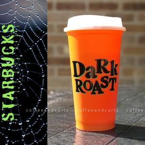 "SB Orange GITD Lid ""Dark Roast"" Grande Hot Cup"